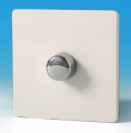 Varilight 1 Gang 1 or 2 Way 400W Push on/off Dimmer Light Switch Screwless Premium White HDQ3S